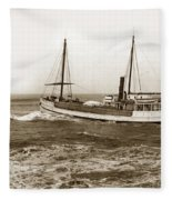 steam-schooner Elizabeth circa 1914 Fleece Blanket