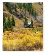 Steam Train 5 Fleece Blanket