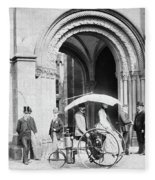 Steam Tricycle, 1888 Fleece Blanket