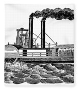 Steamboat, 19th Century Fleece Blanket