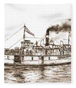Steamboat Reliance Sepia Fleece Blanket