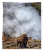 Steamed Bison Fleece Blanket