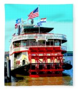 Steamer Natchez Paddleboat Fleece Blanket