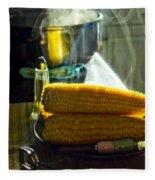 Steaming Corn Fleece Blanket