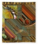 Steampunk Abstract Fleece Blanket
