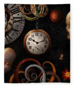 Steampunk - Abstract - The Beginning And End Fleece Blanket