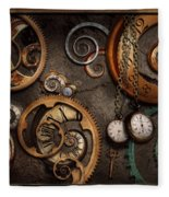Steampunk - Abstract - Time Is Complicated Fleece Blanket