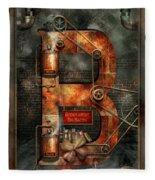 Steampunk - Alphabet - B Is For Belts Fleece Blanket