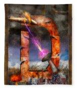 Steampunk - Alphabet - D Is For Death Ray Fleece Blanket