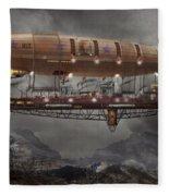 Steampunk - Blimp - Airship Maximus  Fleece Blanket