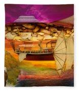 Steampunk - Blimp - Everlasting Wonder Fleece Blanket