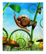 Steampunk - Bugs - Evolution Take Time Fleece Blanket