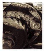 Steampunk Cable Car Brake Fleece Blanket