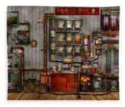 Steampunk - Coffee - The Company Coffee Maker Fleece Blanket