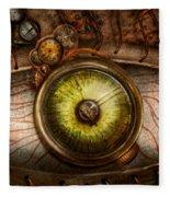 Steampunk - Creepy - Eye On Technology  Fleece Blanket