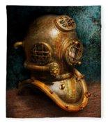 Steampunk - Diving - The Diving Helmet Fleece Blanket