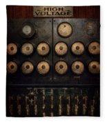 Steampunk - Electrical - Center Of Power Fleece Blanket