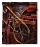 Steampunk - Gear - Belts And Wheels  Fleece Blanket
