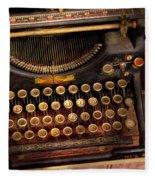 Steampunk - Just An Ordinary Typewriter  Fleece Blanket