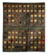 Steampunk - Phones - The Old Switch Board Fleece Blanket