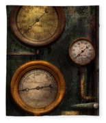 Steampunk - Plumbing - Gauging Success Fleece Blanket