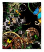 Steampunk - Surreal - Mind Games Fleece Blanket
