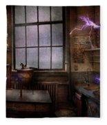 Steampunk - The Mad Scientist Fleece Blanket