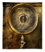 Steampunk - The Pressure Gauge Fleece Blanket