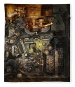 Steampunk - The Turret Computer  Fleece Blanket