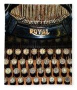 Steampunk - Typewriter -the Royal Fleece Blanket