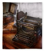 Steampunk - Typewriter - The Secret Messenger  Fleece Blanket