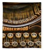 Steampunk - Typewriter - Underwood Fleece Blanket