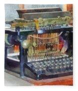 Steampunk - Vintage Typewriter Fleece Blanket
