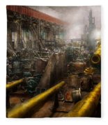 Steampunk - War - We Are Ready Fleece Blanket