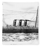 Steamship - City Of New York Fleece Blanket