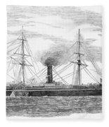 Steamship, 1853 Fleece Blanket
