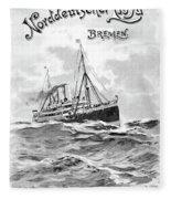 Steamship Menu, 1901 Fleece Blanket