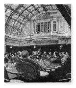 Steamship: Saloon, 1890 Fleece Blanket