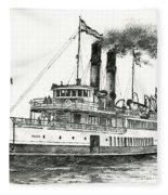 Steamship Tacoma Fleece Blanket