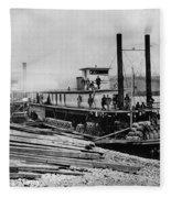 Steamships, C1864 Fleece Blanket