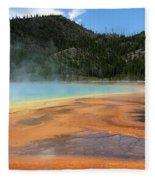 Steamy Yellowstone Fleece Blanket