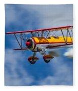 Stearman Biplane Fleece Blanket