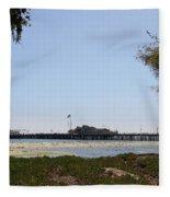 Stearns Wharf Santa Barbara Fleece Blanket