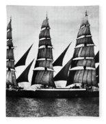 Steel Barque, 1921 Fleece Blanket