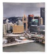Steel City Storm Clouds Fleece Blanket
