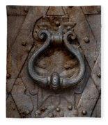 Steel Decorated Doorknob Fleece Blanket