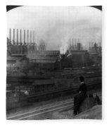 Steel Factory, C1907 Fleece Blanket