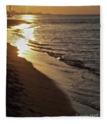 Steel Mill Sunset Fleece Blanket