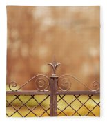 Steel Ornamented Fence Fleece Blanket