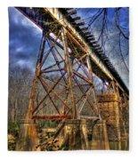Steel Strong Rr Bridge Over The Yellow River Fleece Blanket